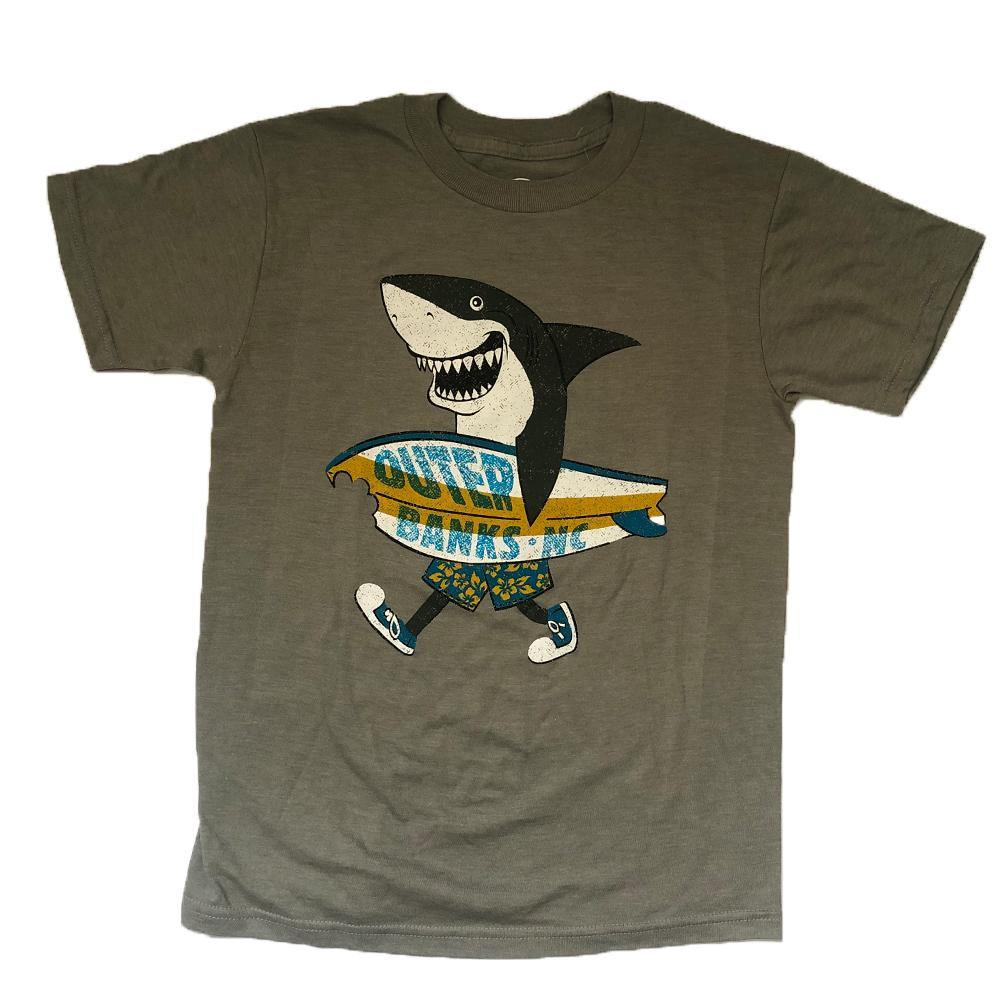 OB Youth Surf Day Shark Short Sleeve Tee