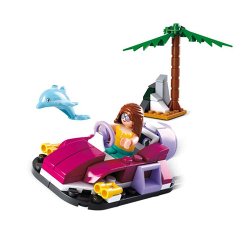 Girls Dream Hovercraft 70 Piece Playset