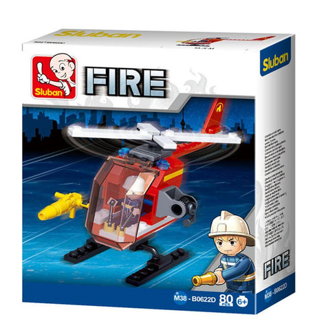 Small Fire Helicopter 80 Piece Playset - Kitty Hawk Kites Online Store