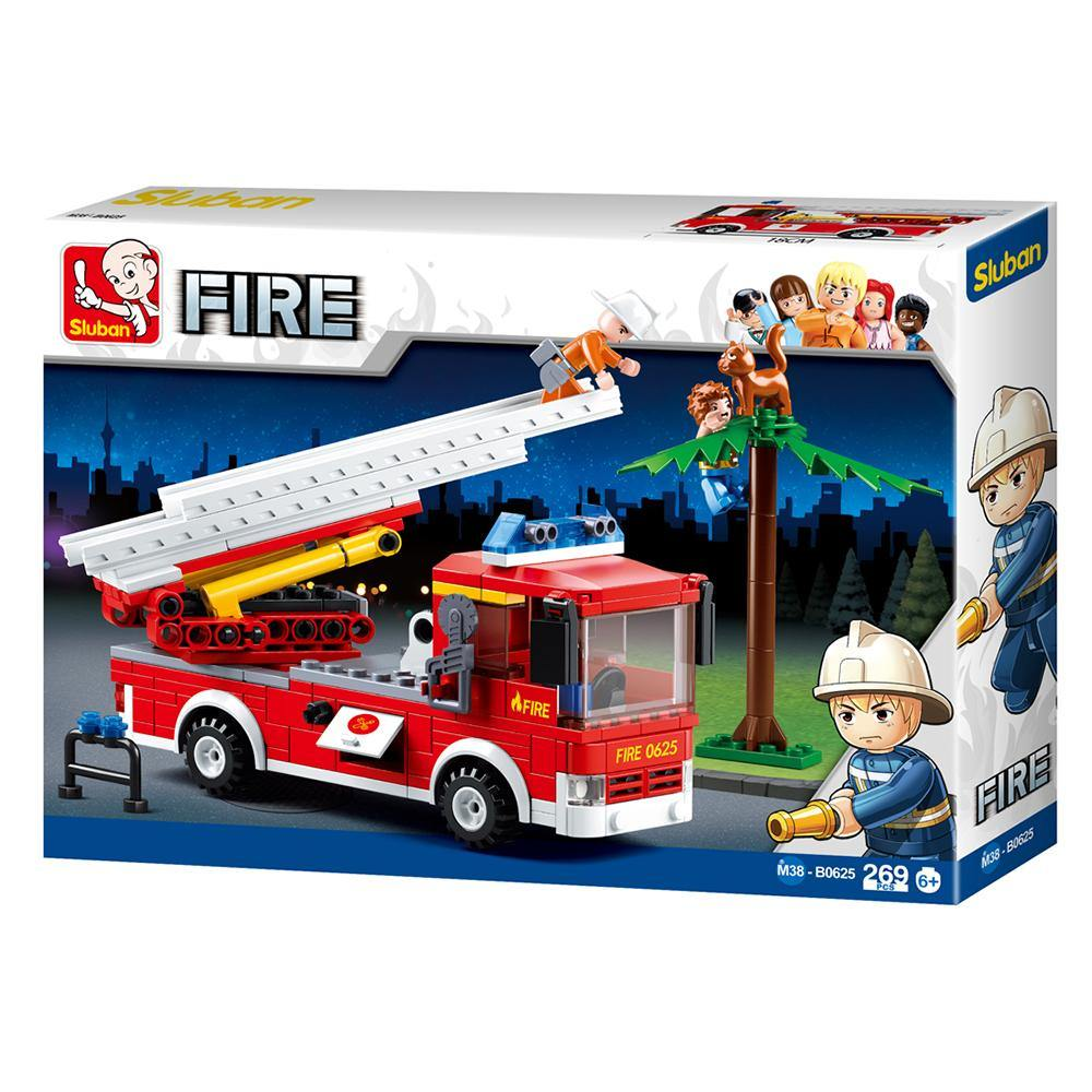 Fire Truck W/ Aerial Ladder Playset