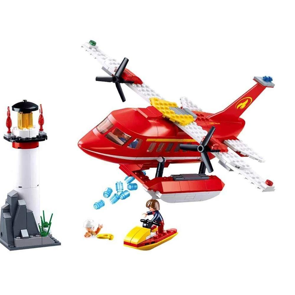 Firefighting Water Plane 348 Piece Playset