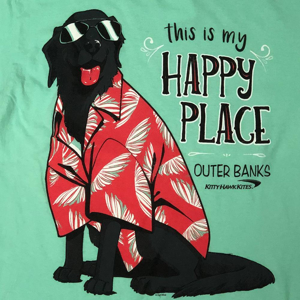 Happy Beach Dog Short Sleeve Tee - Kitty Hawk Kites Online Store