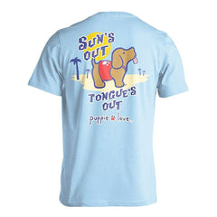 Sun's Out Tongue's Out Pup Short Sleeve T-Shirt