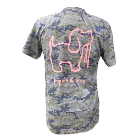 Camo Pup Short Sleeve T-Shirt