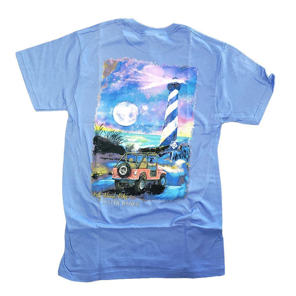 Custom OBX Watercolor Lighthouse Jeep Short Sleeve Tee