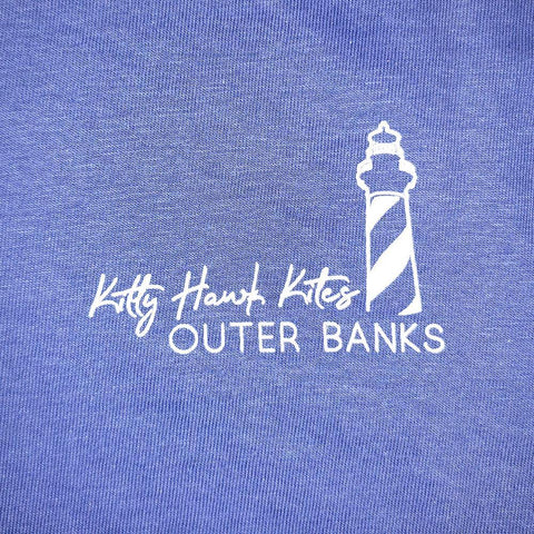 Custom OBX Watercolor Lighthouse Jeep Short Sleeve Tee - Kitty Hawk Kites Online Store