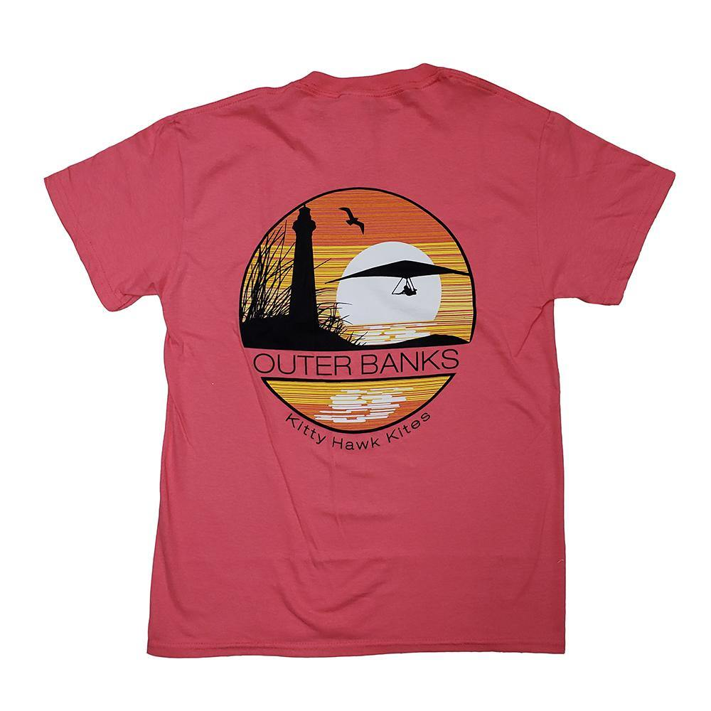 OBX Circle Flyers Hang Gliding Tee with Lighthouse - Kitty Hawk Kites Online Store