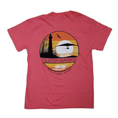 OBX Circle Flyers Hang Gliding Tee with Lighthouse