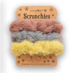 Pink Yellow Fuzzy Scrunchies - HBDN402 - Kitty Hawk Kites Online Store