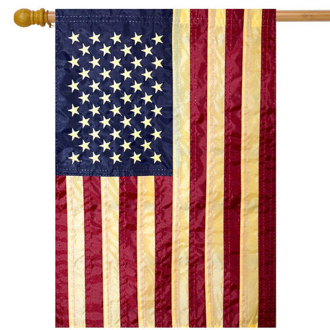 Tea Stained American Hanging Flag