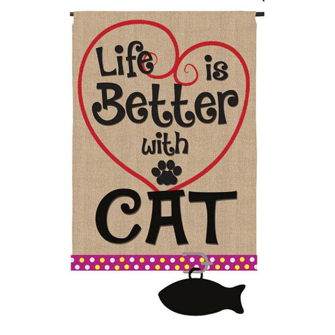 Life's Better with a Cat Garden Flag - Kitty Hawk Kites Online Store