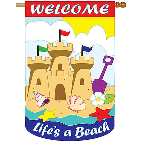 Life's a Beach House Flag - Kitty Hawk Kites Online Store