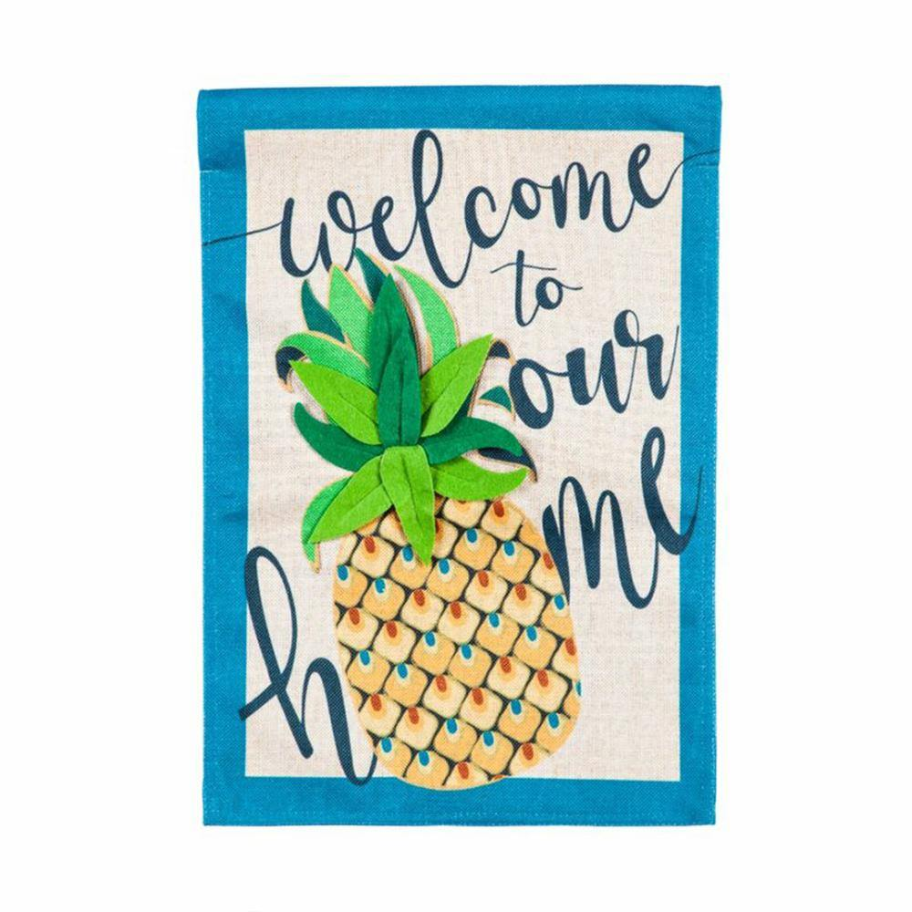 Welcome Home Pineapple Garden Flag