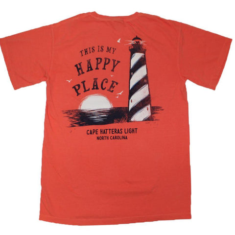Happy Place Cape Hatteras Lighthouse Tee - Kitty Hawk Kites Online Store
