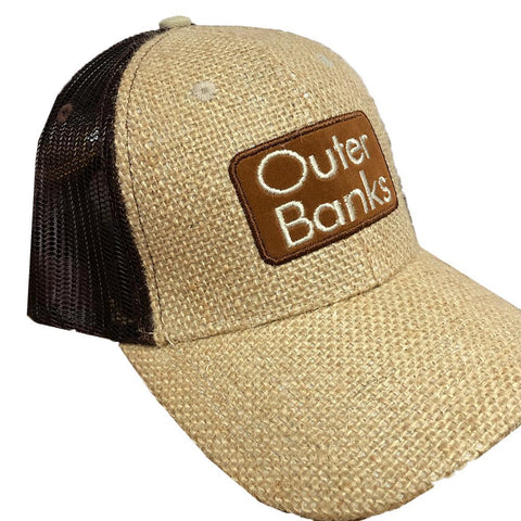 OBX Map Burlap Hat