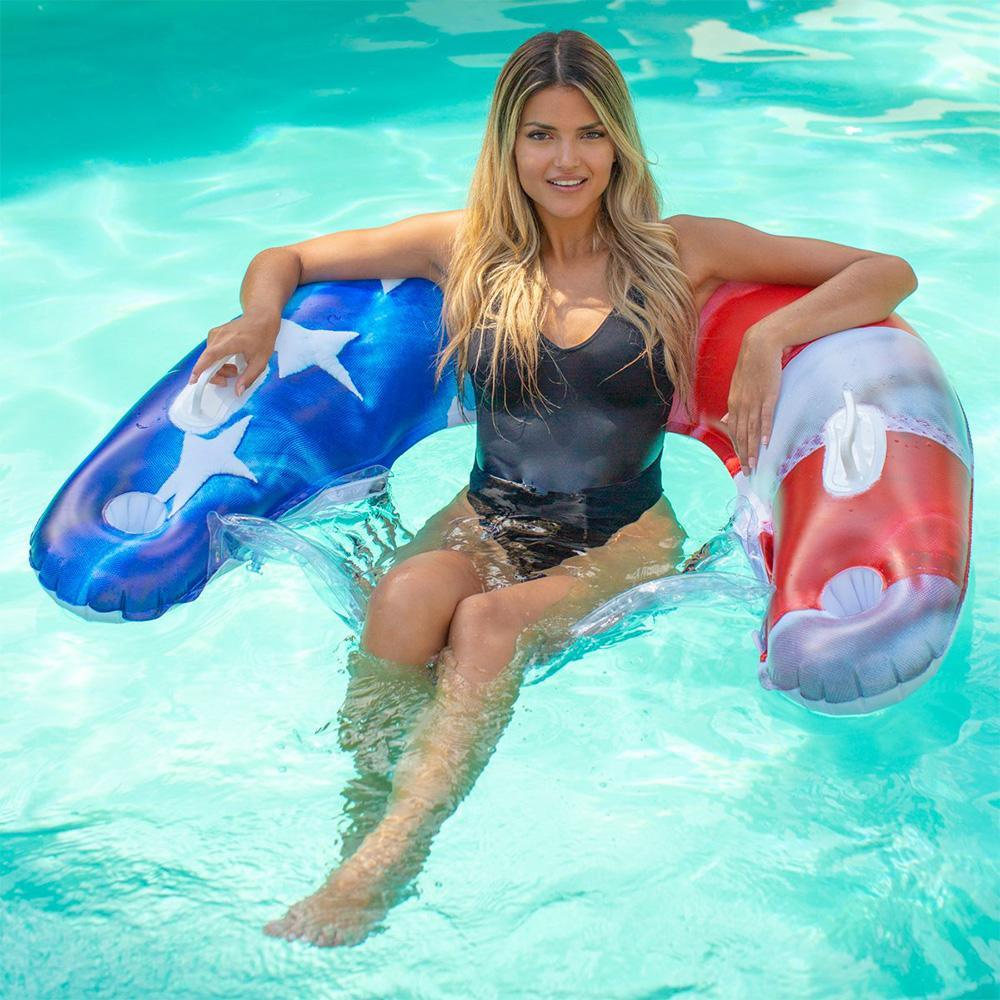 Stars and Stripes Sun Chair Float