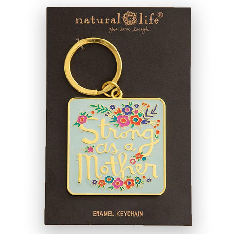 Strong As A Mother Enamel Keychain - Kitty Hawk Kites Online Store