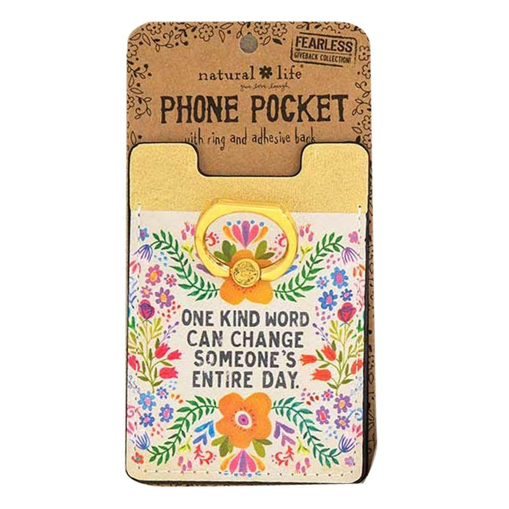 One Kind Word Phone Pocket Ring