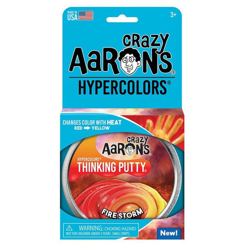 Crazy Aaron's Putty World Fire Storm Hypercolor Putty - Kitty Hawk Kites Online Store