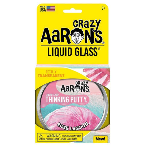 Crazy Aaron's Putty World Rose Lagoon Liquid Glass Putty