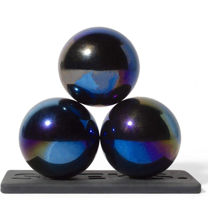 Set of 3 (33mm) Magnetic Balls - Sculptural Fun Stress Relief Desk Toy and Base for Adults - Kitty Hawk Kites Online Store