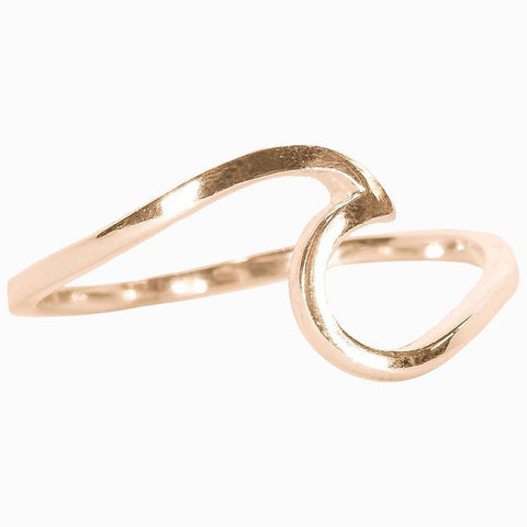 Rose Gold Wave Ring - Kitty Hawk Kites Online Store