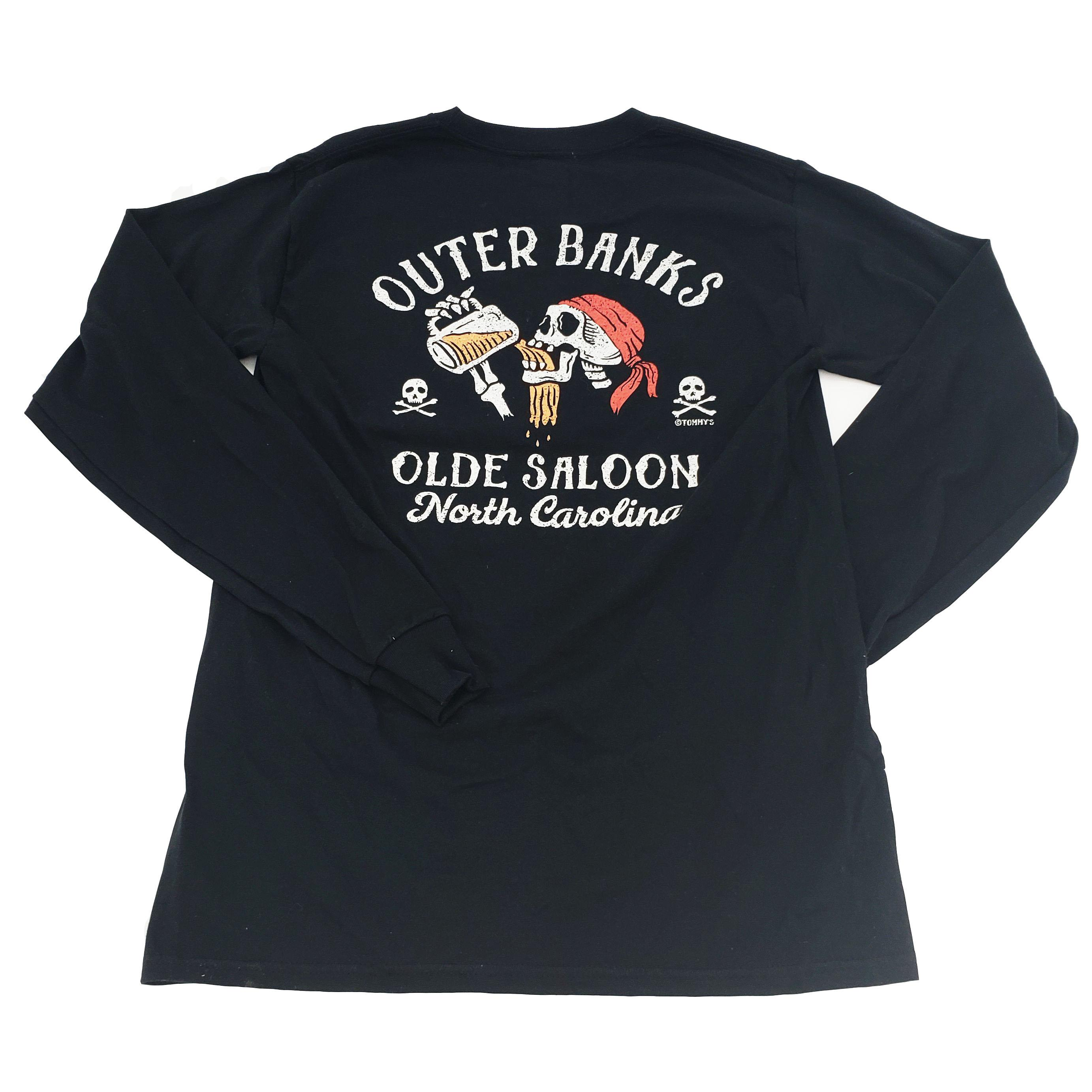 OBX Long Sleeve Blackbeard Saloon Pirate Tee
