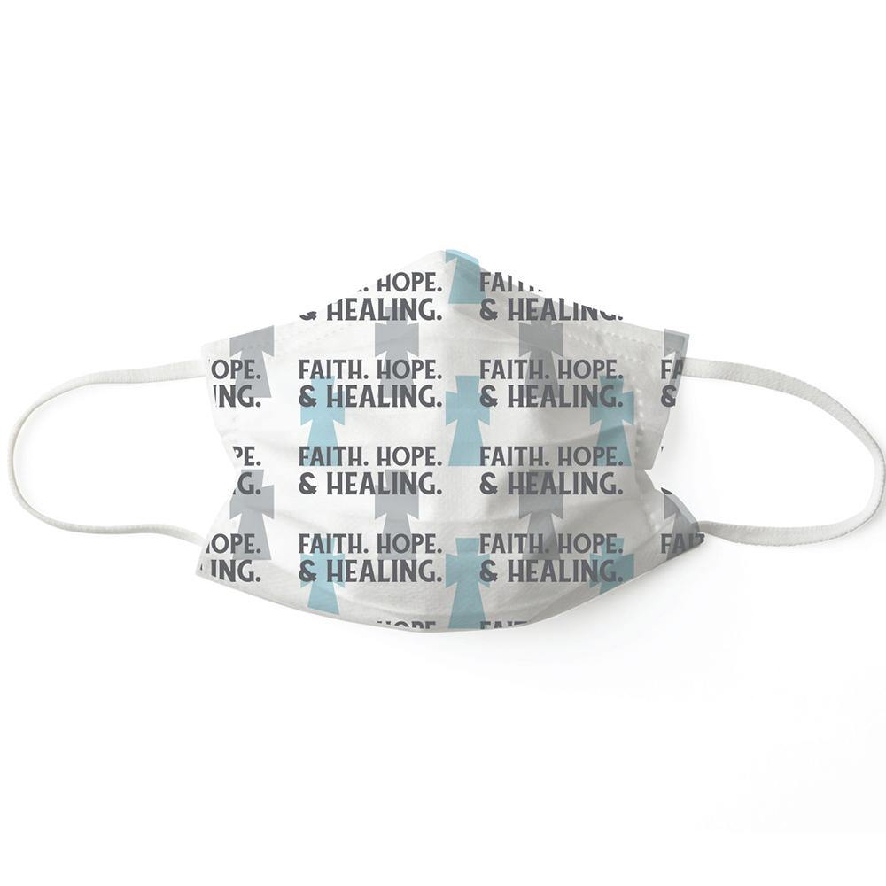 Faith, Hope, & Healing Disposable Face Mask - Set of 7