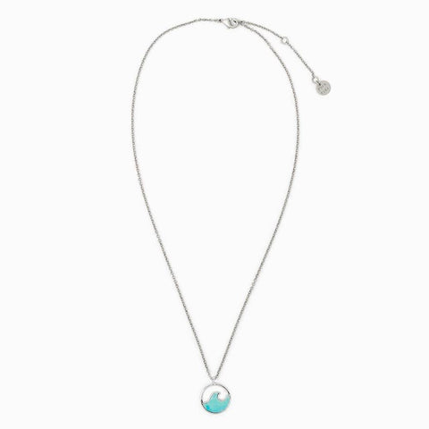 Silver Stone Wave Necklace - Kitty Hawk Kites Online Store