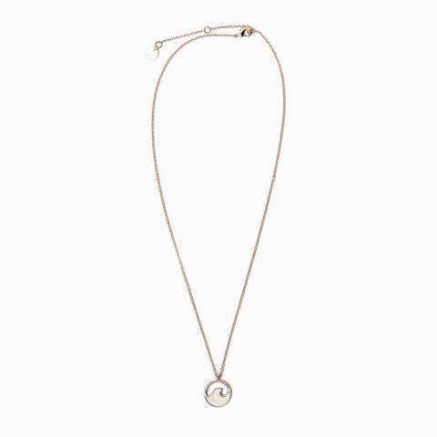 Rose Gold Stone Wave Necklace - Kitty Hawk Kites Online Store