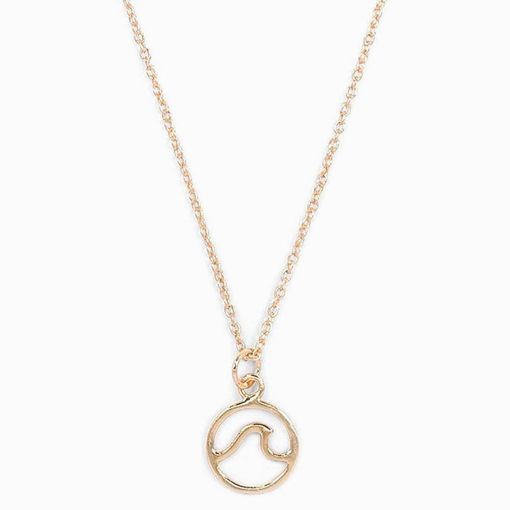 Rose Gold Wave Necklace - Kitty Hawk Kites Online Store