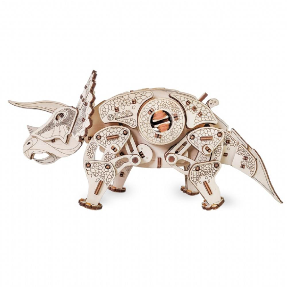 Eco Wood Art: Triceratops