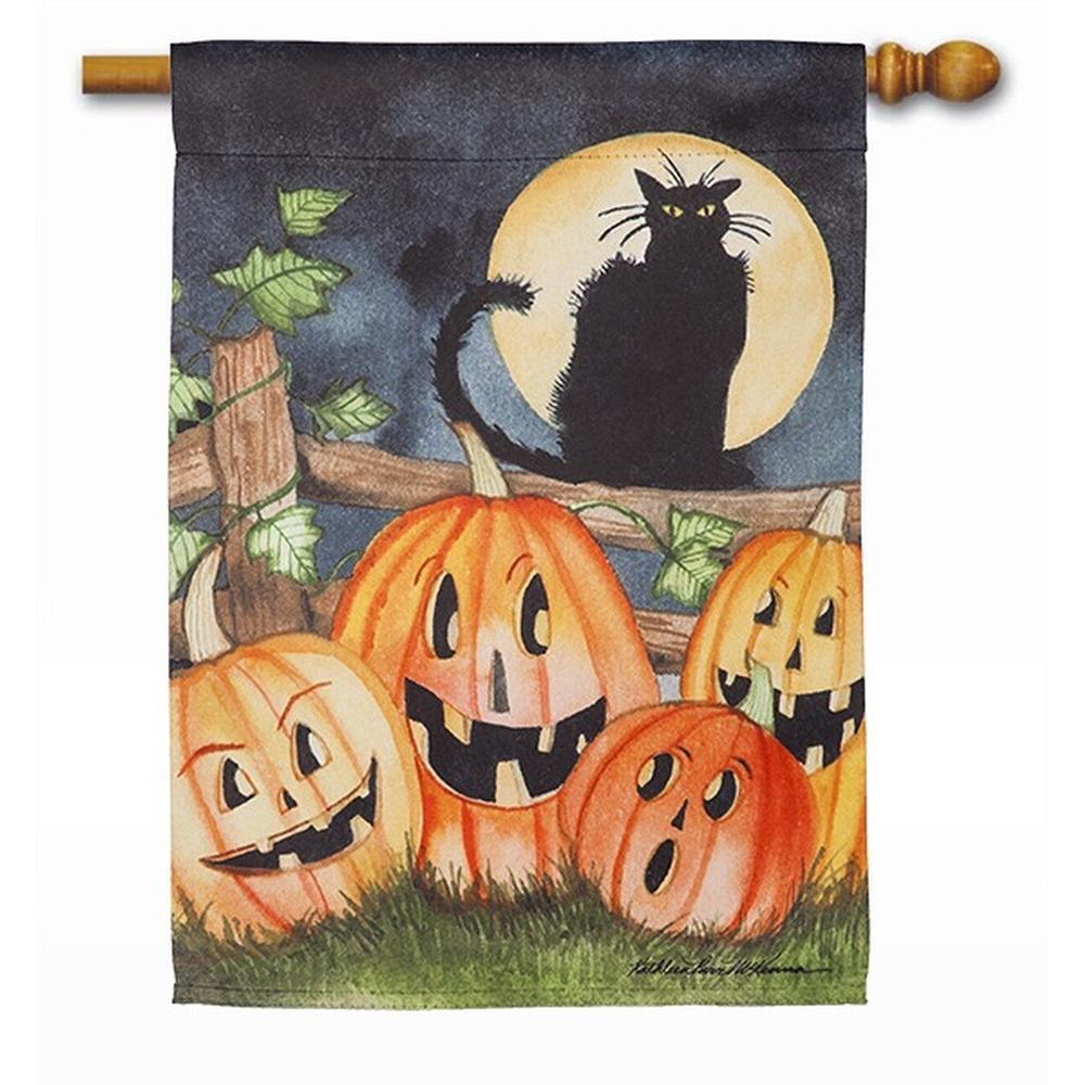 Haunting Halloween Night House Flag