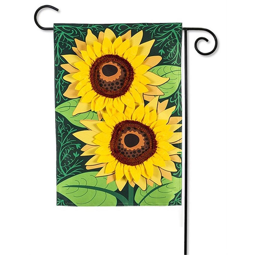 Sunflower Applique Garden Flag