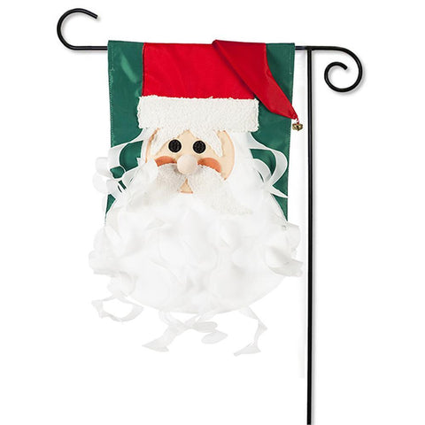 Old St Nick Applique Garden Flag