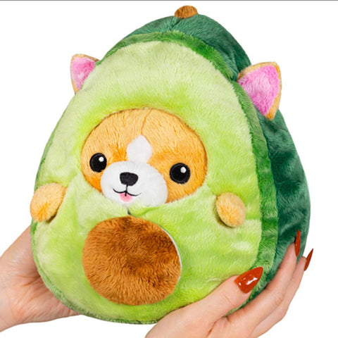 "Undercover 7"" Corgi in Avocado Disguise"