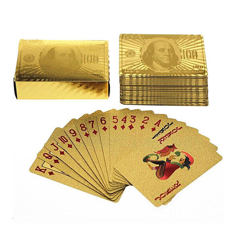 $100 Gold Playing Cards