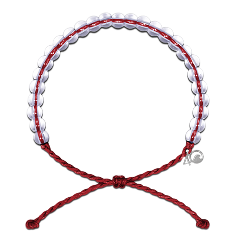 4Ocean Red Sustainable Fishing Bracelet