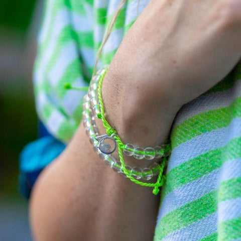 4Ocean Limited Edition Lime Green Sea Turtle Bracelet