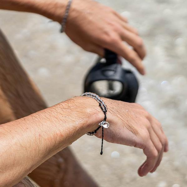 4Ocean Black Shark Bracelet - Kitty Hawk Kites Online Store