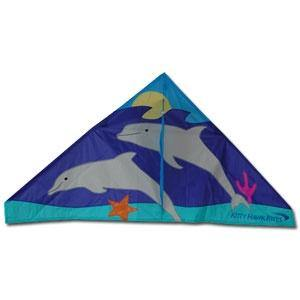 Swimming Dolphins 56 Inch Delta Kite