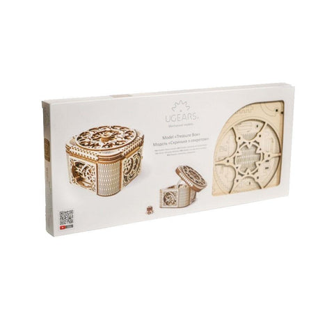 UGears Treasure Box Mechanical Model - Kitty Hawk Kites Online Store