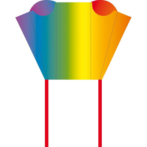 KHK Rainbow Sled Kite in Backpack