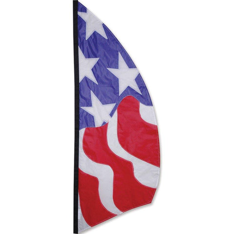 8.5 Foot Patriotic Feather Banner Flag