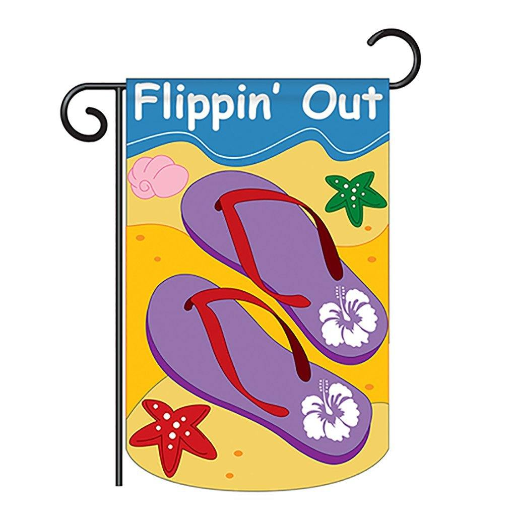 Flippin' Out - Applique Garden Flag - Kitty Hawk Kites Online Store