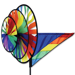 Rainbow Triple Wind Spinner