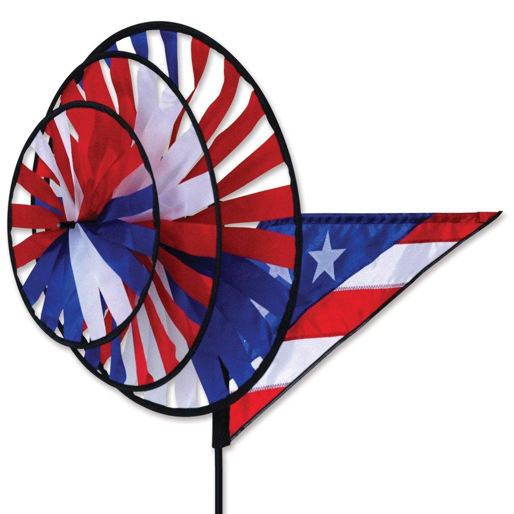 Patriotic Triple Wind Spinner