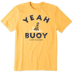 Men's Crusher Yeah Buoy Baja Yellow Tee - Kitty Hawk Kites Online Store