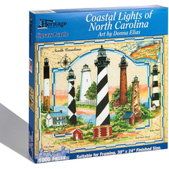 Heritage Coastal Lights of North Carolina Jigsaw Puzzle