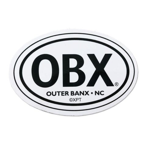 OBX White Mini Magnet - Kitty Hawk Kites Online Store